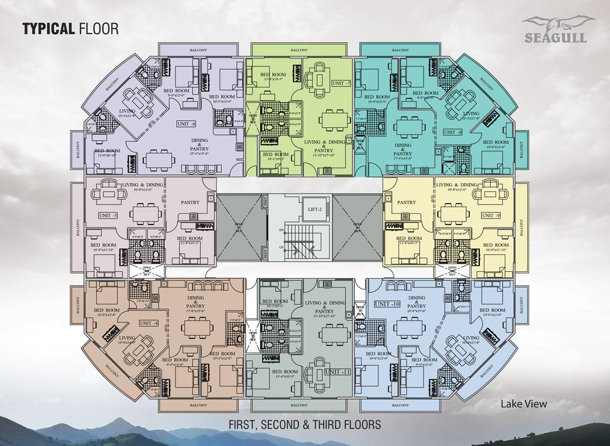 Floor plan for Lake view floor plans